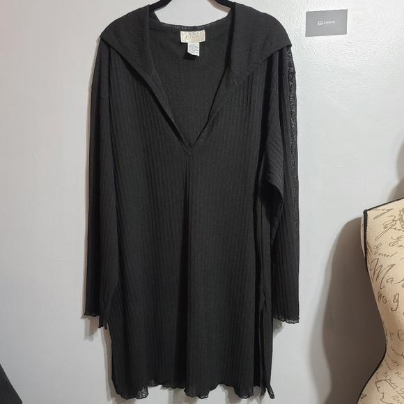 NWOT Style & Co. Shawl Black Purple SZ L/XL